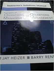 heizer operations management solution manual