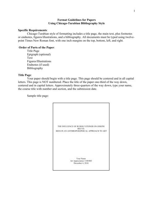 chicago manual of style bibliography page