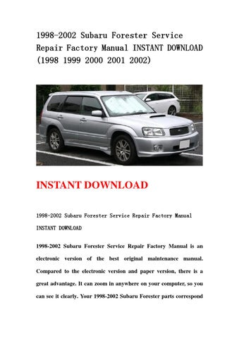 subaru factory service manual download