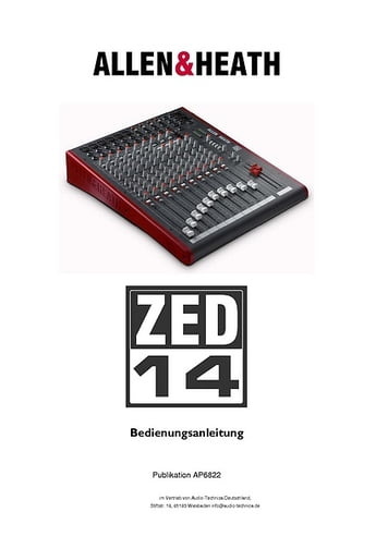 allen heath zed 428 service manual