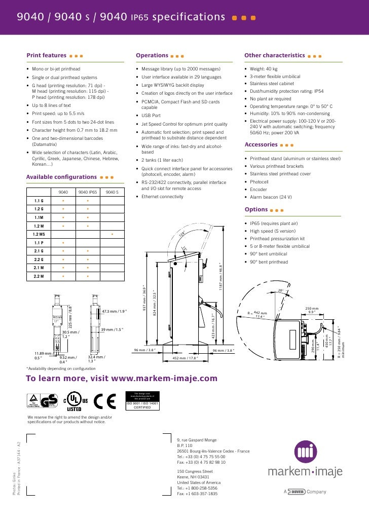markem imaje 9040 user manual